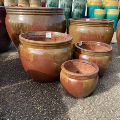14 Inch Greenwood Planter CopperOrange